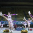 Talisman team participates in Championship on cheerleading — Stock Video