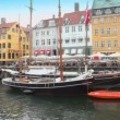 Panorama of Nyhavn canal in Copenhagen at day — Stock Video