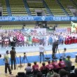 Teams participate in parade of championship on cheerleading — Stock Video