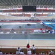 Stadium in Krylatskoe at UCI juniors track world championships — Stock Video