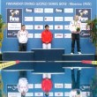 Winners receive medals on World FINA series on diving — Vidéo