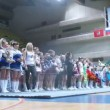 Teams participate in championship of Moscow on cheerleading — Stock Video