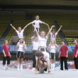 Chaplin team participates in Championship on cheerleading — Stock Video