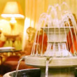 Stock Video: Luxury interior design supplements fountain in restaurant hall