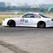 Cars turn on routes, on 3rd stage of championship on drift — Stockvideo