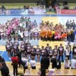 Jury awards winners teams of championship on cheerleading — Stock Video #32347939