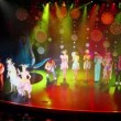 Russian troupe of actors on farewell at show end in cruise ship — Stock Video