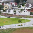 Stock Video: Cars go on streets of Norwegicity of Stavanger