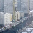 Cars go along new buildings on New Arbat — Stock Video