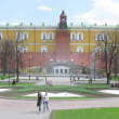 People walk near Kremlin Grotto in Moscow — Stock Video