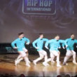 United Bit Boys crew dances hip-hop on scene — Stock Video
