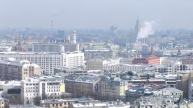 Kremlin stands against city landscape and blue sky — Stock Video