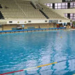 Teams Astana and Dynamo play waterpolo in pool — Stock Video