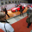 People are photographed with Volvo cars at Week of fashion — Wideo stockowe #32380883