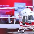 Helicopter Ansat stands on International exhibition — Vídeo Stock