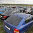 The stand of automobiles on to the meadow — Stock Photo #7432998