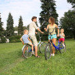 Parents with on bikes — Stock Photo #7434486