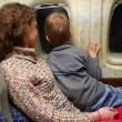 Mother child airplane — Stock Photo #7434895