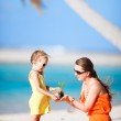Mother and daughter on a beach — Stock Photo #12656862