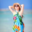 Beautiful woman on vacation — Stock Photo #12656889