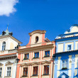 Old Prague houses - Stock Photo