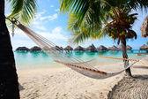 Perfect beach on Moorea — Stock Photo