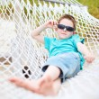 Cute boy in hammock — Stock Photo #12952334