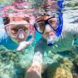 Foto Stock: Couple snorkeling