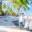 Mother and kids on a tropical vacation — Foto de Stock