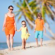 Beautiful family on a beach — Stock Photo #13548940