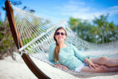 Beautiful woman on vacation — Stock Photo