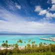 Moorea island coastline — Stock Photo