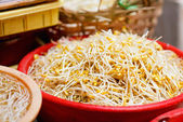 Soybean sprouts — Stock Photo