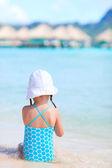 Little girl at beach — Stock Photo