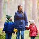 Family at autumn park — Stock Photo #13872401