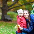 Family at autumn park — Stock Photo #13872488