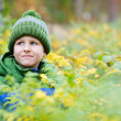 Cute boy outdoors - Foto Stock