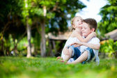 Adorable kids outdoors — Stock Photo