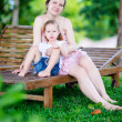 Mother and daughter outdoors — Stockfoto