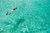 Woman snorkeling — Stock Photo