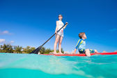 Family water activity — Stock Photo