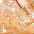 Christmas cookies baking — Stock Photo