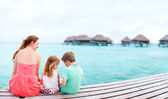 Mother and kids on vacation — Stock Photo