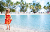 Little girl on vacation — Stock Photo