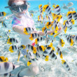 Woman snorkeling — Stock Photo #14735093