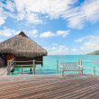 Stock Photo: Over water bungalow