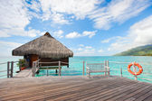 Over water bungalow — Stock Photo