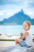 Little girl on vacation — Stock Photo