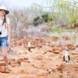 Female tourist at Galapagos islands - Stock fotografie
