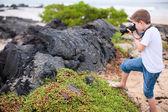Junge natur-fotograf — Stockfoto